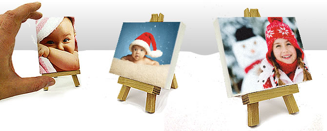 Mini photo art with a tiny cute easel